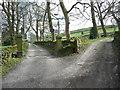 SE0225 : The junction of Hob Lane with Blind Lane, Mytholmroyd by Humphrey Bolton