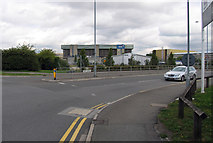 TQ0975 : Envoy Avenue/Hatton Cross Roundabout junction by Andrew Tatlow