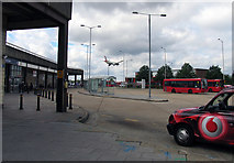 TQ0975 : Hatton Cross Bus and Underground station by Andrew Tatlow