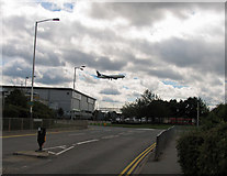 TQ0975 : Hatton Cross roundabout from Eastchurch Road by Andrew Tatlow