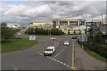 TQ0975 : Part of Hatton Cross Roundabout by Andrew Tatlow