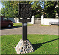 TL1887 : Holme village sign by Andrew Tatlow