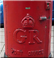 TQ3093 : Cypher, George V postbox Cannon Hill Post Office by JThomas