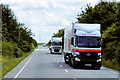 SK8255 : HGVs on the A17 near to Winthorpe by David Dixon