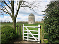 SP3251 : White Gate & Windmill by Des Blenkinsopp