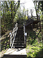 TL1215 : Steps to The Nickey Line footpath by Adrian Cable