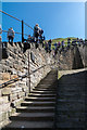 NZ9011 : Steps to St Mary's Church, Whitby, Yorkshire by Christine Matthews