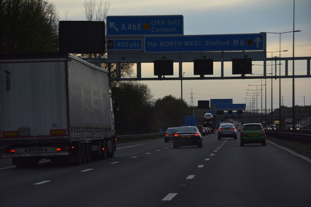 South Staffordshire : The M6 Motorway