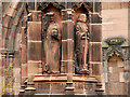 SJ4066 : Two Saints on Chester War Memorial by David Dixon