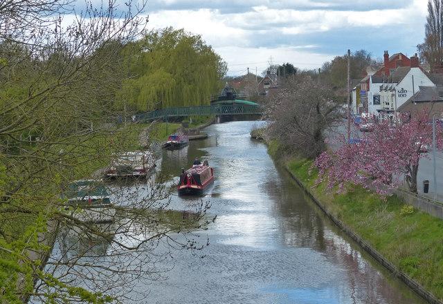 Fossdyke Canal in Saxilby