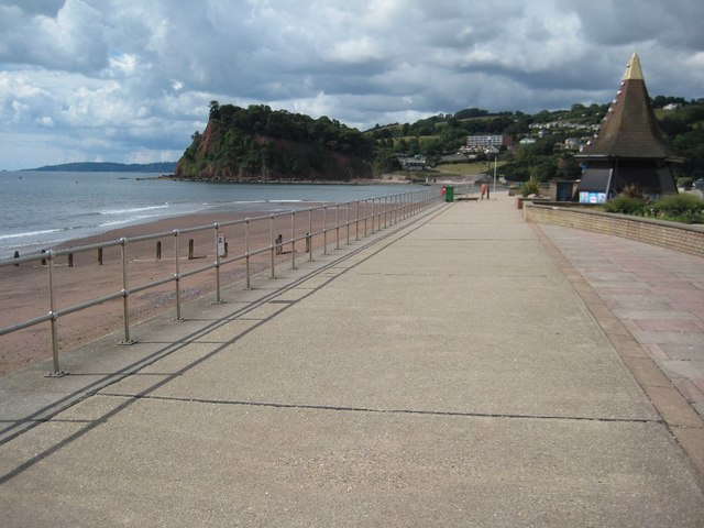 View to The Ness from the seafront at Teignmouth