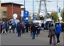SK5802 : News crews outside the King Power Stadium by Mat Fascione