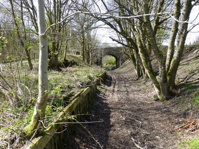 Track-bed of former Northumberland Central Railway