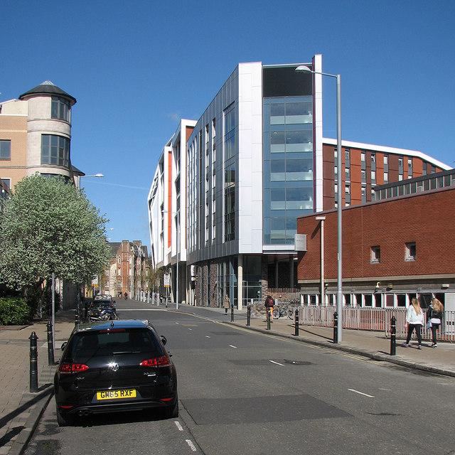 Shakespeare Street and parts of Nottingham Trent University