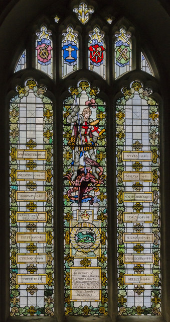 Memorial window, Leicester Cathedral