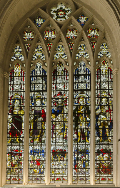 Stained glass window, Leicester Cathedral