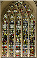 SK5804 : Stained glass window, Leicester Cathedral by Julian P Guffogg