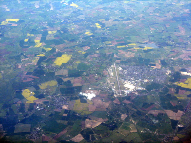 Oxfordshire fieldscape with airfield