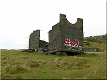 SO5977 : Quarry ruin, Titterstone Clee by Alan Murray-Rust