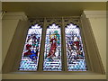 SJ8745 : Stoke Minster: stained glass window (IX) by Basher Eyre
