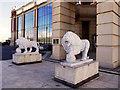 SJ7796 : Trafford Centre Lions by David Dixon
