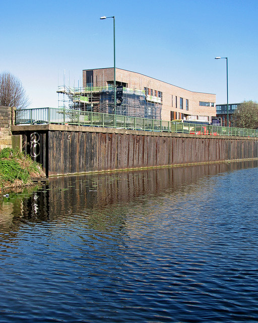 Nottingham Canal and the new fire station