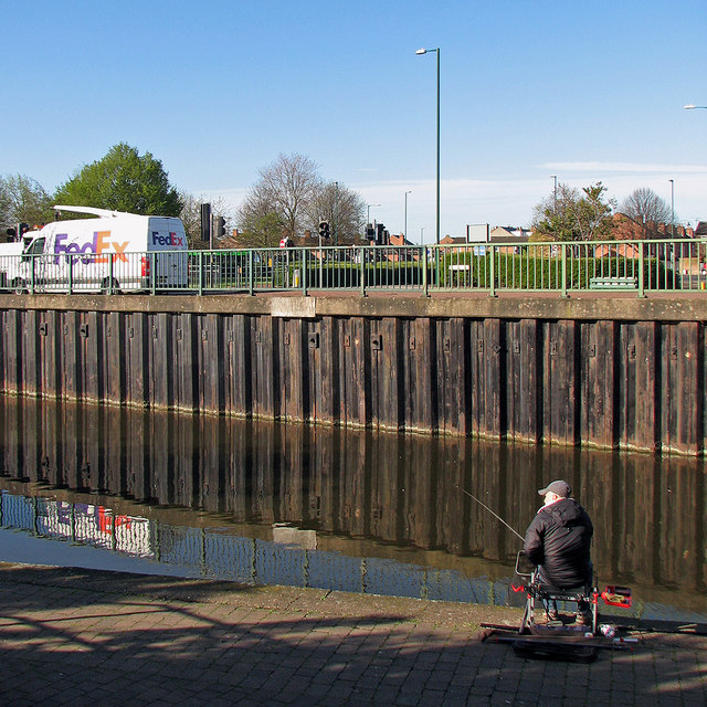 Fishing in the Nottingham Canal