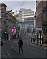 SK5739 : Victoria Street in the half-light by John Sutton