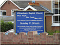 TM1851 : Witnesham Baptist Church sign by Adrian Cable