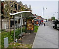 ST3188 : JCDecaux advertising site on a disused bus shelter in Newport city centre by Jaggery