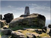 SD9716 : Blackstone Edge Trig Pillar by David Dixon