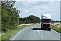 TF1644 : Heavy Goods Vehicle Travelling West on the A17 near Heckington by David Dixon