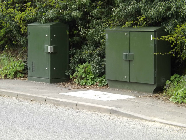 Telecommunication Boxes off the B1077 America Hill