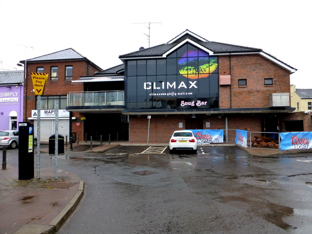Climax, Omagh (rear view from Market Yard car park)