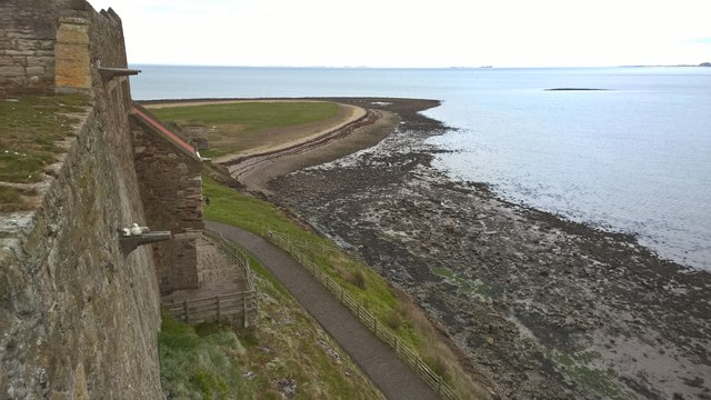 View from Lindisfarne Castle towards Castle Point