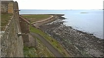 NU1341 : View from Lindisfarne Castle towards Castle Point by Chris Morgan