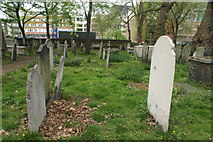 TQ3282 : View of graves in Bunhill Fields #4 by Robert Lamb
