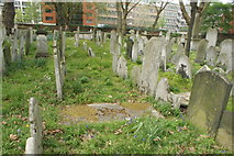 TQ3282 : View of graves in Bunhill Fields #7 by Robert Lamb