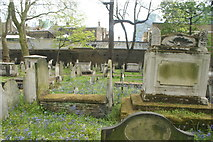 TQ3282 : View of graves in Bunhill Fields #9 by Robert Lamb