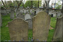 TQ3282 : View of graves in Bunhill Fields #12 by Robert Lamb