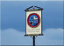 SK8976 : Saxilby village sign by Mat Fascione
