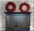 TF9828 : Stibbard in-church War Memorial by Adrian S Pye