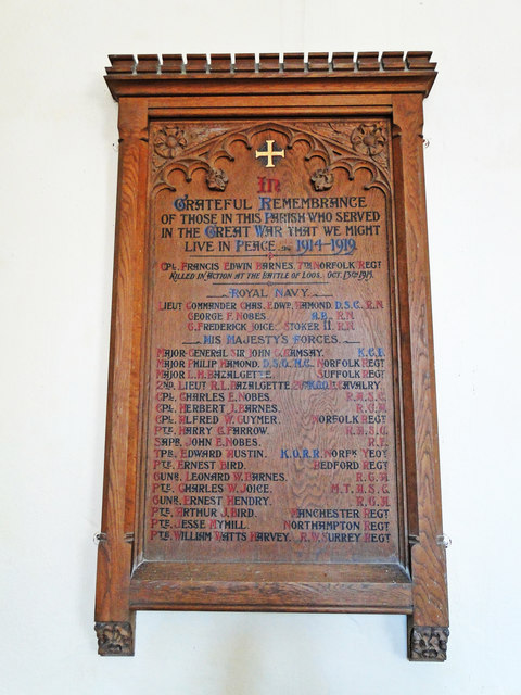 Twyford War Memorial and Roll of Honour