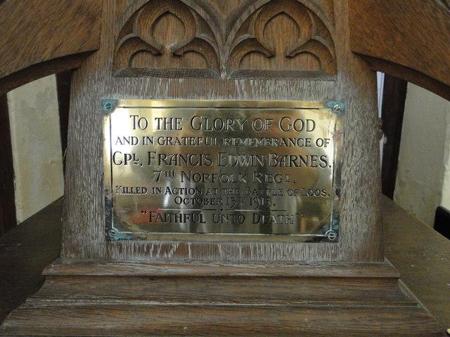 War Memorial at Twyford