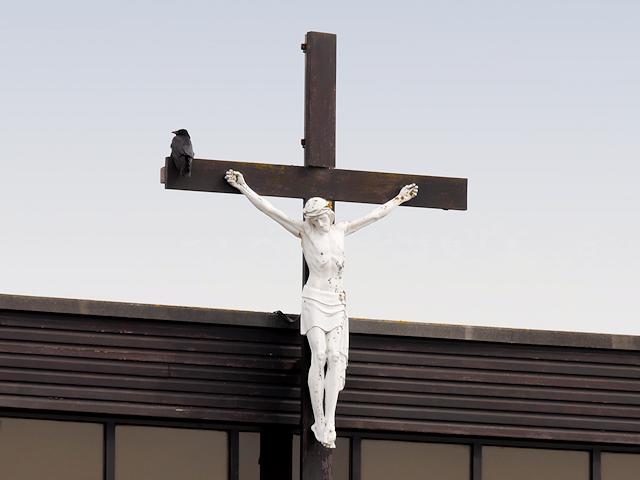 Crucifix on St Benet's Church