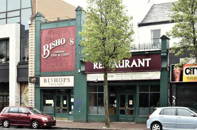 "Former ""Bishops"", Bradbury Place, Belfast (May 2016)"