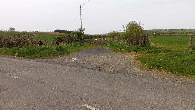 Entrance to a track to Newmains