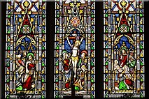 SK3463 : Ashover: All Saints Church: Stained glass window 1 by Michael Garlick