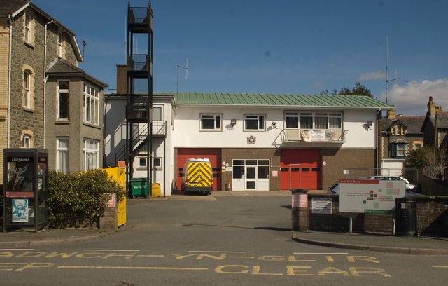 Fire station, Builth Wells