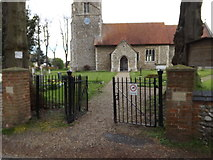 TM1551 : Church Gates & entrance to St.Peter's Church by Geographer